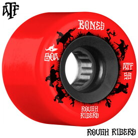 【BONES WHEELS ボーンズ ウィール】59mm ROUGH RIDER WRANGLERS 80A RED WHEEL(4pack)ソフトウィール レッド ラフ・ライダー クルージング クルーザー スケートボード スケボー sk8 skateboard【2001】