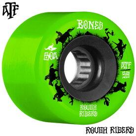 【BONES WHEELS ボーンズ ウィール】59mm ROUGH RIDER WRANGLERS 80A GREEN WHEEL(4pack)ソフトウィール グリーン ラフ・ライダー クルージング クルーザー スケートボード スケボー sk8 skateboard【2011】