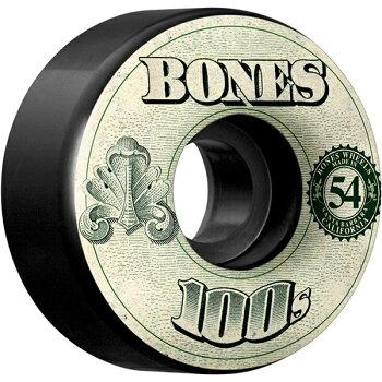 【BONESWHEELSボーンズウィール】【V4】100OGBLACK54MMWHEELS(4pack)【100A】ウィールスケートボードスケボーsk8skateboard