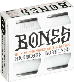 【BONES HARDCORE BUSHINGS】HARD WHITE(トラック2台分)【96A】ハードコアブッシュ ハード ホワイト スケートボード スケボー sk8 skateboard