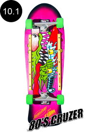 【SANTA CRUZ サンタクルーズ】10.1in x 31.13in SLASHER 80'S CRUZERクルーザー コンプリート(完成組立品) キース・ミーク スラッシャー オールドスクール スケートボード KRUX レール付 ロングボード オフトレ スケボー skateboard【1808】