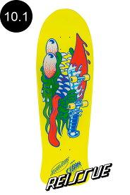 【SANTA CRUZ サンタクルーズ】10.1in x 31.13in SLASHER NEON YELLOW DIP REISSUE DECKデッキ スラッシャー ジム・フィリップス オールドスクール 復刻 スケートボード スケボー【1904】