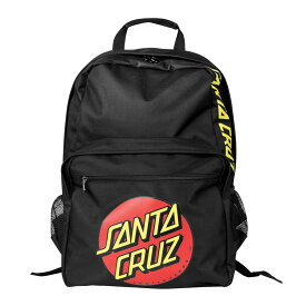 【SANTA CRUZ サンタクルーズ】CLASSIC DOT BACKPACK BLACKバックパック 鞄 リュック スケートバッグ ブラック 通勤 通学 新学期 入学 プレゼント スケートボード スケボー sk8 skateboard【19FW】(CP)