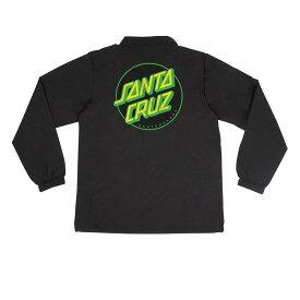 【SANTA CRUZ サンタクルーズ】OTHER DOT COACH WINDBREAKER MENS BLACKジャケット ブラック ウインドブレーカー スケートボード スケボー sk8 skateboard【18SM】