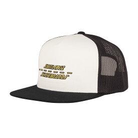 【SANTA CRUZ サンタクルーズ】STREET STRIP MESH TRUCKER HAT MENS WHITE/BLACKキャップ ホワイト/ブラック メッシュキャップ アジャスタブル 帽子 スケートボード スケボー sk8 skateboard【19SS】