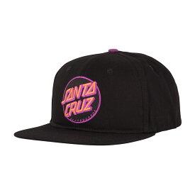 【SANTA CRUZ サンタクルーズ】OTHER DOT ADJUSTABLE SNAPBACK HAT MENS BLACK W/ PINK/PURPLEキャップ ブラック/ピンク/パープル スナップバック 帽子 スケートボード スケボー sk8 skateboard【19SS】
