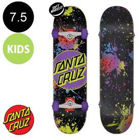【SANTA CRUZ サンタクルーズ】7.5in x 28.25in DOT SPLATTER SK8 COMPLETE※7〜10歳前後推奨 コンプリート(完成組立品) スケートボード(初心者にもおすすめ)かわいい 初めて スケボー ストリート sk8 skateboard【2007】