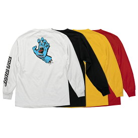 【SANTA CRUZ サンタクルーズ】SCREAMING HAND REGULAR L/S SHIRT MENSロングスリーブTシャツ スクリーミングハンド ロンT 長袖 青い手 メンズ レディース スケートボード スケボー sk8 skateboard【20SS】(CP)