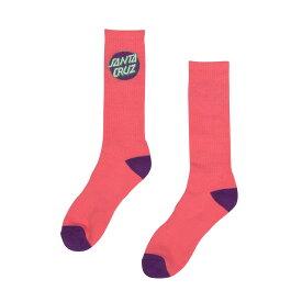 【SANTA CRUZ サンタクルーズ】CRUZ CREW SOCKS CORAL W/PURPLEソックス 2ペア 靴下 コーラル/パープル スケートボード スケボー sk8 skateboard【19SS】
