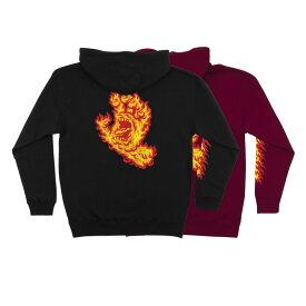 【選べるクーポン対象商品】【SANTA CRUZ サンタクルーズ】FLAME HAND P/O HOODED SWEATSHIRT MENSプルオーバーパーカー スクリーミングハンド フード 【19FW】