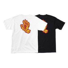 【SANTA CRUZ サンタクルーズ】FLAME HAND REGULAR S/S SHIRT MENSTシャツ 半袖 スクリーミングハンド メンズ レディース スケートボード スケボー sk8 skateboard【19FW】