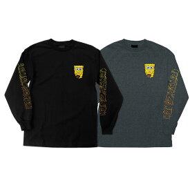 【SANTA CRUZ サンタクルーズ】SPONGEBOB MELT REGULAR L/S SHIRT MENSロングスリーブTシャツ スポンジボブ スクエアパンツ スケートボード スケボーsk8 skateboard【19HD】