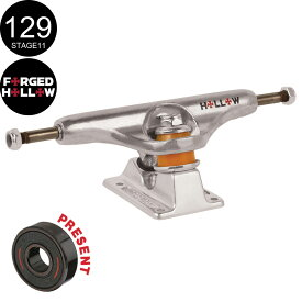 【INDEPENDENT インディペンデント】129 FORGED HOLLOW SILVER TRUCKS(Stage11)トラック シルバー フォージド ホロー スケートボード スケボー sk8 skateboard2個セット