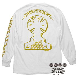 【INDEPENDENT インディペンデント】DRESSEN MONUMENT REGULAR L/S T SHIRT MENS WHITEロングスリーブTシャツ ホワイト エリック・ドレッセン 40周年 ロンT スケートボード スケボー sk8 skateboard【18SS】