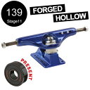 【INDEPENDENT インディペンデント】139 FORGED HOLLOW ANO BLUE STANDARD TRUCKS(Stage11)トラック ブ...