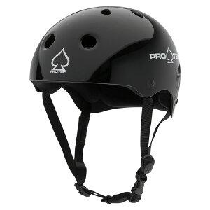 【PRO-TEC プロテック】CLASSIC SKATE GLOSS BLACKヘルメット グロスブラック 黒 プロテクター 大人用 子供用 キッズ ユース PROTEC スケートボード スケボー sk8 skateboard BMX インライン【2103】
