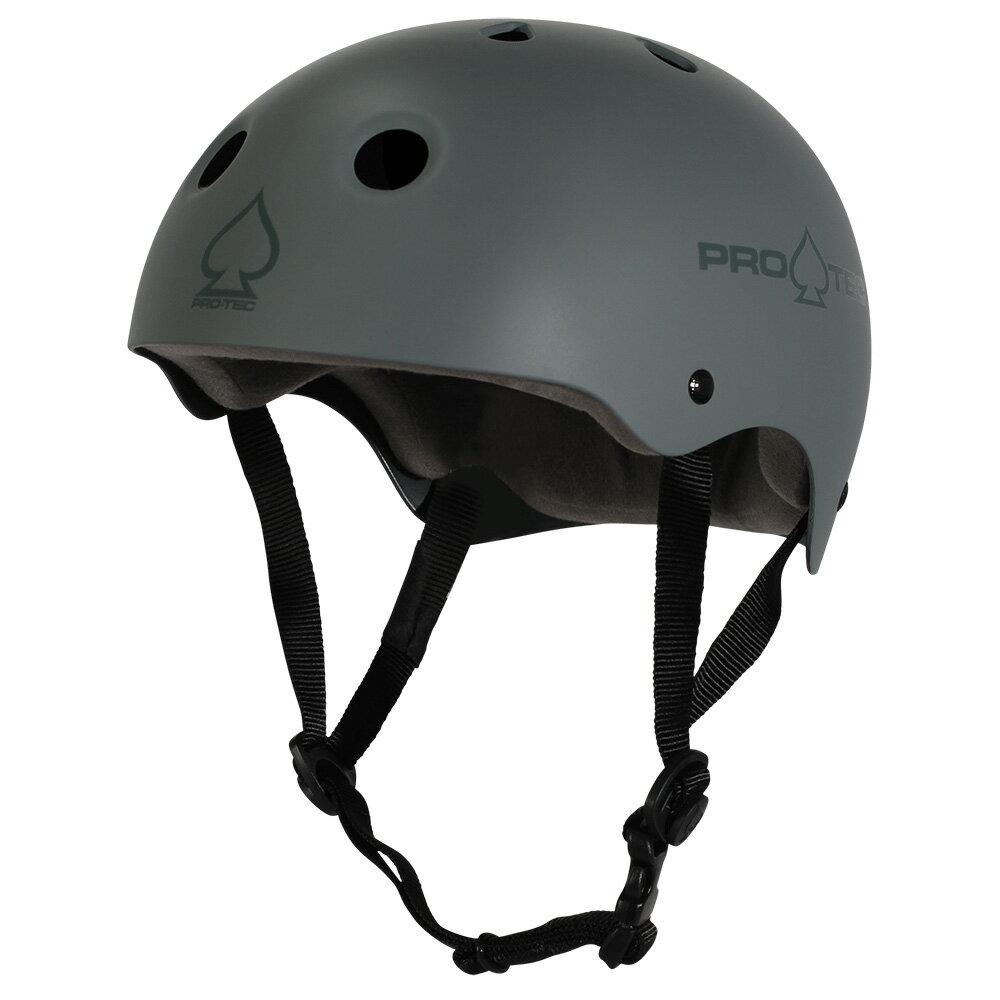 【PRO-TEC プロテック】CLASSIC SKATE MATTE GRAYヘルメット マットグレー プロテクター つや消し スケートボード スケボー sk8 skateboard BMX インライン【1805】