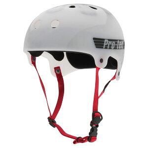 【PRO-TEC プロテック】OLD SCHOOL SKATE TRANSLUCENT WHITE BUCKYヘルメット トランスルーセントホワイト 黒 プロテクター 大人用 PROTEC スケートボード スケボー sk8 skateboard BMX インライン【2103】