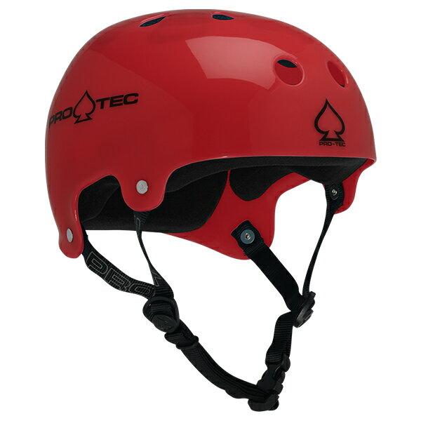 【PRO-TEC プロテック】CLASSIC BUCKY(TRANSLUCENT RED)【2-STAGE】【HDPE FLEX】Helmets スケートヘルメットスケートボード スケボー sk8 skateboard BMX inline インライン Bicycle 自転車