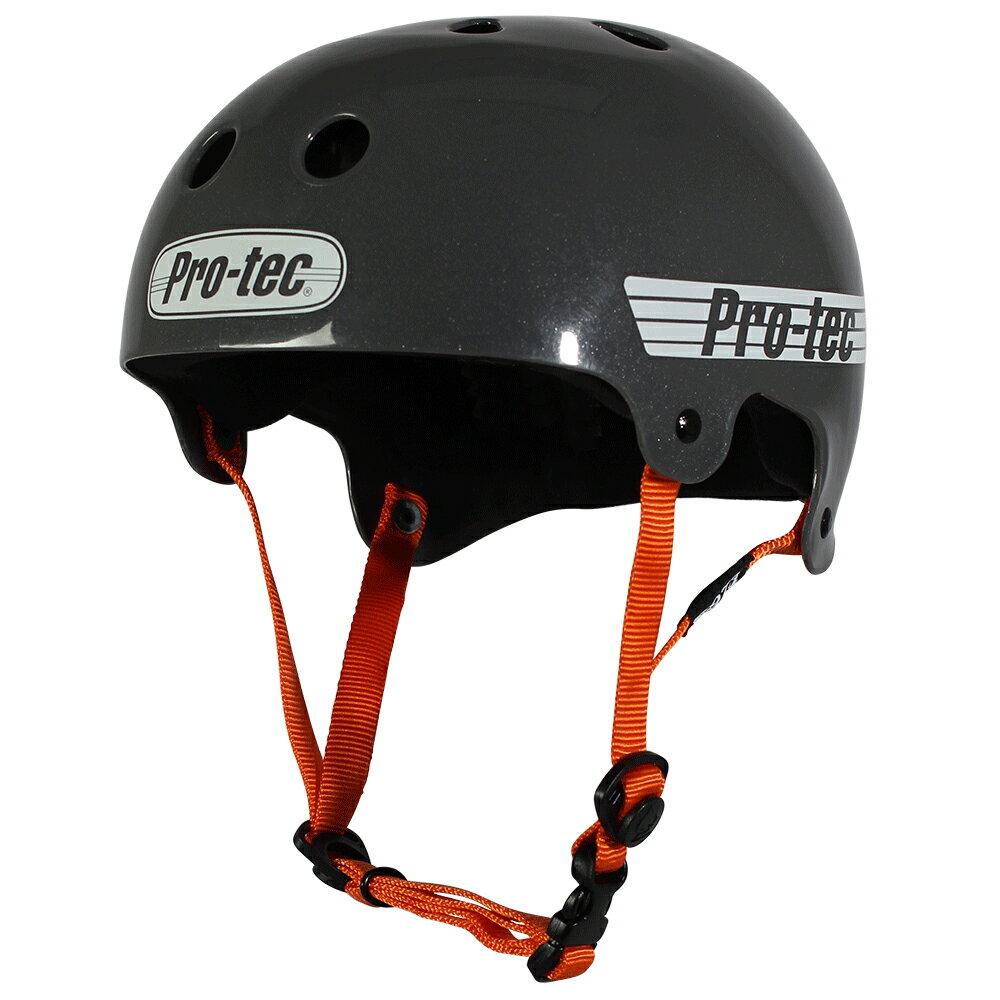 【PRO-TEC プロテック】CLASSIC BUCKY SOLID GUNMETAL GRAYヘルメット ソリッドガンメタルグレー プロテクター スケートボード スケボー sk8 skateboard BMX インライン【1704】