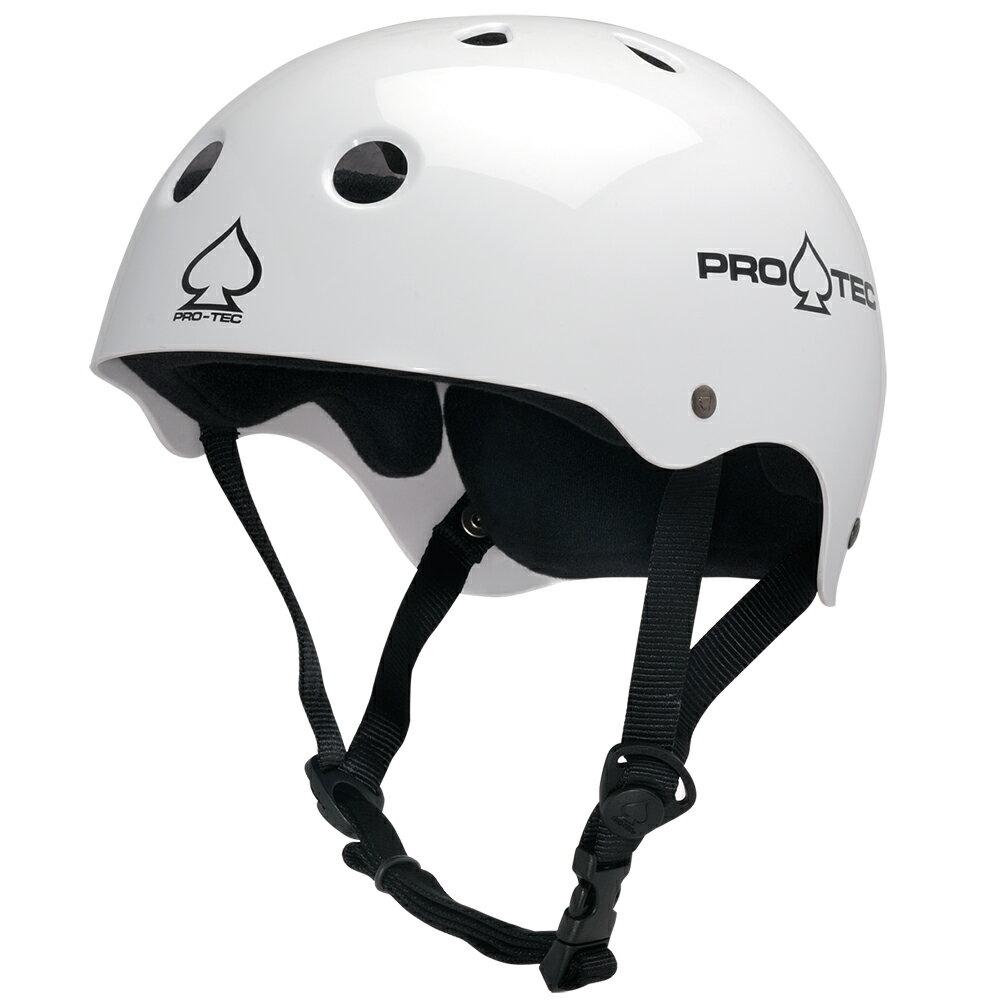 【PRO-TEC プロテック】CLASSIC SKATE GLOSS WHITEヘルメット グロスホワイト 白 プロテクター スケートボード スケボー sk8 skateboard BMX インライン【1704】