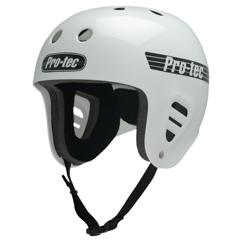 【PRO-TEC プロテック】FULLCUT WHITEヘルメット ホワイト フルカット プロテクター スケートボード スケボー sk8 skateboard BMX インライン【1704】