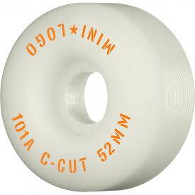 "【MINI LOGO ミニロゴ】WHEEL C-CUT""2""52MM 101A WHITE (4pacK)ウィール ホワイト スケートボード スケボー sk8 skateboard"