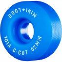 """【MINI LOGO ミニロゴ】WHEEL C-CUT""""2"""" 52mm 101A BLUE (4pacK)ウィール ブルー スケートボード スケボー sk8 skatebo…"""