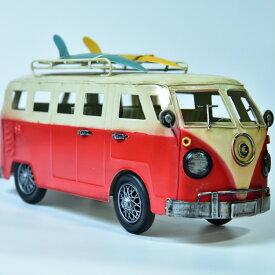 ブリキのおもちゃ 置物 アメリカン雑貨 ヴィンテージ オブジェ インテリア小物 レトロ ワーゲンバス ミニカー レトロインテリア