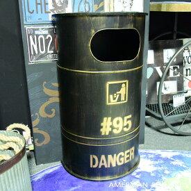 アメリカン雑貨 アメリカ雑貨 雑貨 ビンテージ風 オイル缶 ブリキ缶 収納 ゴミ箱 ダストボックス ブラック トラッシュボックス インテリア