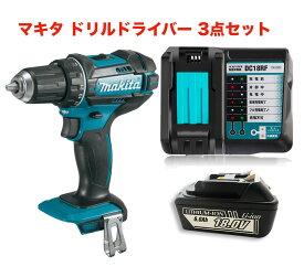 マキタ ドリルドライバー 18V 充電式 XFD10Z 互換バッテリー BL1860B 互換充電器 3点セット makita 電動工具 BL1820 BL1830 BL1840 BL1850 BL1860