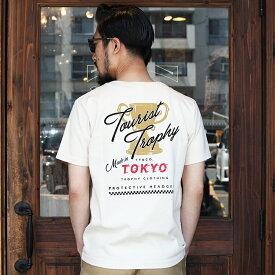TROPHY CLOTHING トロフィークロージング / 「Tourist Trophy OD Crew Tee」 プリントTEE / Tシャツ / クルーネック / 半袖 / カジュアル / アメカジ / モーターサイクル