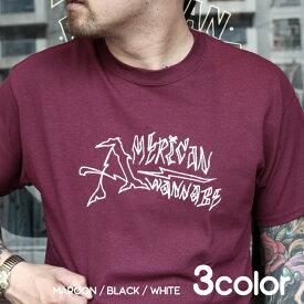 AMERICAN WANNABE×CxTxM アメリカンワナビー×シーティーエム / 「Tattoo Logo」 クルーネックTEE / MEN'S メンズ / Tシャツ / 半袖 / カジュアル / ストリート / アメカジ / 限定