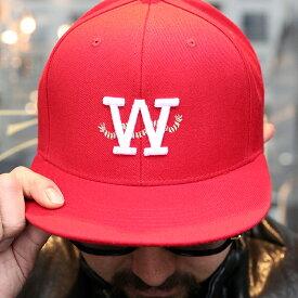 """AMERICAN WANNABE アメリカンワナビー / 「""""ROPE"""" SNAP BACK CAP """"RED""""」 スナップバックキャップ / MEN'S メンズ / キャップ / ロゴ / 帽子 / 刺繍 / カジュアル / ストリート / アメカジ / 限定"""
