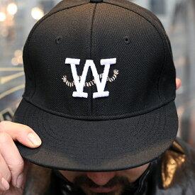 """AMERICAN WANNABE アメリカンワナビー / 「""""ROPE"""" SNAP BACK CAP """"BLACK""""」 スナップバックキャップ / MEN'S メンズ / キャップ / ロゴ / 帽子 / 刺繍 / カジュアル / ストリート / アメカジ / 限定"""
