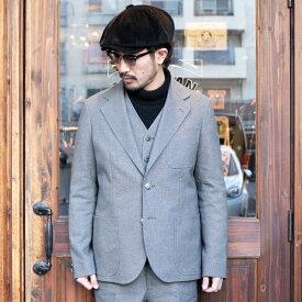 The Stylist Japan ザスタイリストジャパン / 「HOPSACK 2B JACKET」 ホップサックジャケット / MEN'S メンズ / セットアップ / 3ピース / 2ボタン / スーツ / 無地 / フォーマル / アメカジ