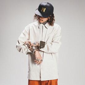 NASTOYS ナストイズ / 「Cotton Satin Long Sleeves Shirts」 コットンサテンロングスリーブシャツ / MEN'S メンズ / シャツ / ボックス / 長袖 / 無地 / カジュアル / アメカジ