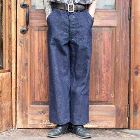 BLACK SIGN ブラックサイン / 「15oz Denim Marine Trousers」 デニムトラウザース / MEN'S メンズ / デニム / パンツ / ワンウォッシュ / 15oz / ワーク / カジュアル / アメカジ