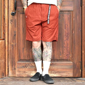 WEIRDO ウィアード / 「WEIRDO - EASY SHORTS」 コットンイージーショーツ / MEN'S メンズ / パンツ / 短パン / ノータック / 無地 / 刺繍 / カジュアル / アメカジ
