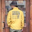 TROPHY CLOTHING トロフィークロージング / 「Box Logo Warm Up Jacket」 60/40クロスコーチジャケット / MEN'S メンズ / ロゴ / 刺繍 / 長袖