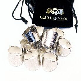 "GLAD HAND グラッドハンド / 「GH CIGAR TAG - RING ""SILVER""」 真鍮製ドッグタグリング / 指輪 / リング / シガー / 葉巻"