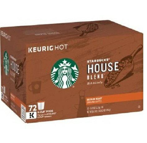 【お取り寄せ品】キューリグ K-CUP スターバックス ハウスブレンド ミディアムロースト 72個入り Starbucks House Blend Medium Roast K-Cup Portion Pack for Keurig Brewers