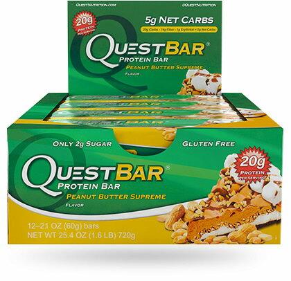 クエストバー プロテインバー ピーナッツバターシュープリーム 12本入り/ Quest Bar Protein Bar Peanut Butter Supreme Flavor 12ct