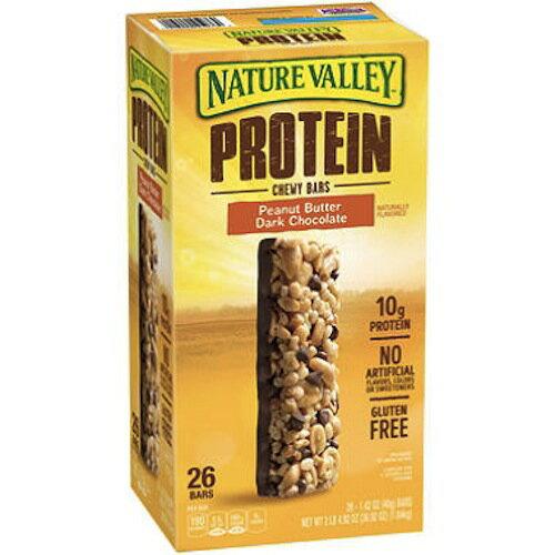 ネイチャーバレー プロテインバー ピーナッツバター ダークチョコレート 26本入り Nature Valley Peanut Butter Dark Chocolate Protein Bars