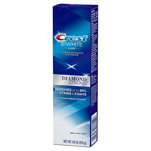Crest 3D White Luxe Diamond Strong Toothpaste Brilliant Mint クレスト 3D ホワイト ダイアモンド ストロング ブリリアントミント 4.8 oz
