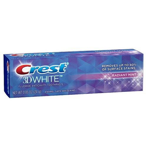 クレスト 3Dホワイト ラディアントミント ミニサイズ Crest 3D White Fluoride Anticavity Toothpaste - Radiant Mint (0.85 oz)