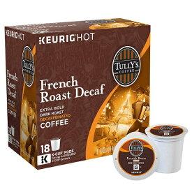 キューリグ Kカップ タリーズコーヒーフレンチロースト デカフェ 90個 KEURIG Tully's French Roast Decaf K-cups, 90-Count