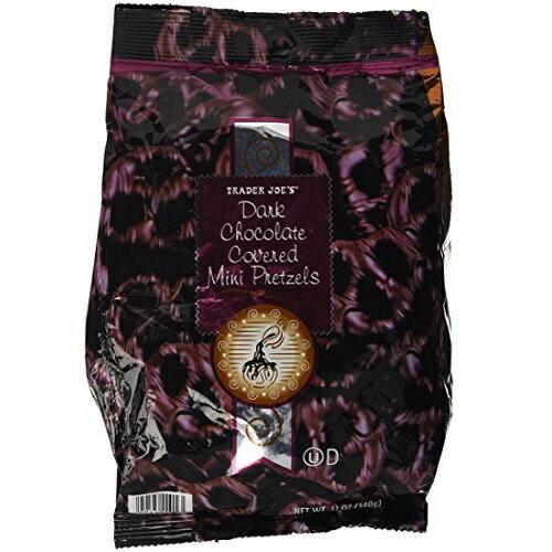 【訳あり】Trader Joe's Dark chocolate Covered Mini Pretzels 12oz / Trader Joe's ダークチョコレート ミニ プレッツェル 340g【賞味期限 2018年3月10日迄】