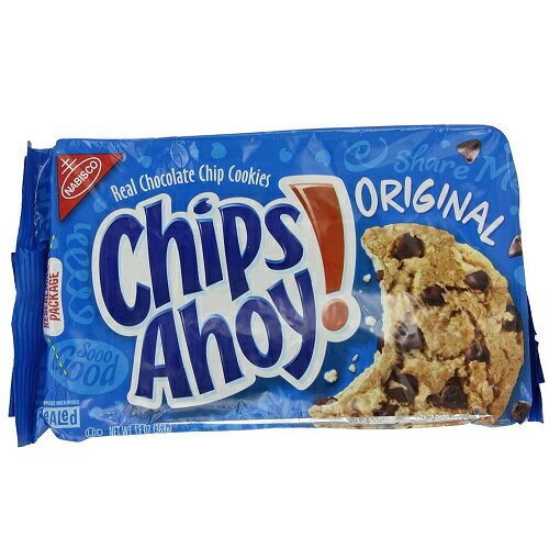 【訳あり】NABISCO Chips Ahoy Chocolate Chip Cookie Original 13oz / ナビスコ チップスアホイ チョコチップクッキー オリジナル368g【在庫限り/賞味期限 2018年2月7日まで】