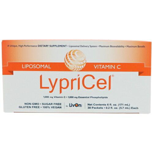 オトクな2箱セット!Lypricel Liposomal Vitamin C, 30 Packets リプリセル ビタミンC 30包